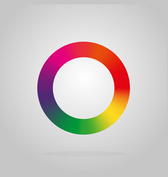 round logo colors of the rainbow on a black vector image