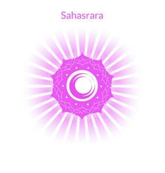 sahasrara chakra vector image