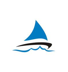 Sailboat logo design template vector