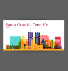 Santa cruz de tenerife city architecture vector