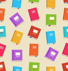 seamless pattern books for education vector image