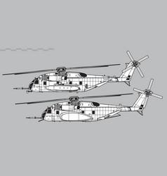 sikorsky ch-53e super stallion vector image