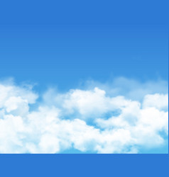 sky and clouds cloudy summer heaven realistic vector image