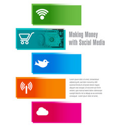 Social media money vector