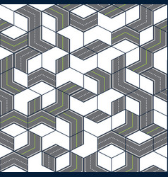 Streets and roads pattern geometric style vector