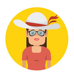 Tourist woman avatar character vector