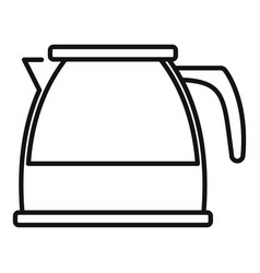 Transparent tea pot icon outline style vector