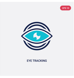two color eye tracking icon from artificial vector image
