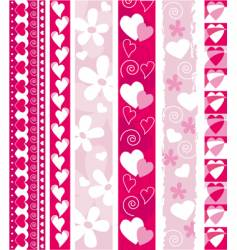 Valentine design border vector