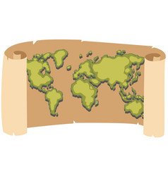 Worldmap on brown paper vector