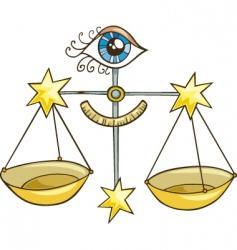 zodiac Libra sign vector image