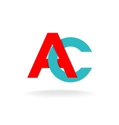 A and C letters logo vector image vector image