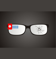 broken smart glasses vector image vector image