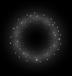 circle of glitter particles white color vector image vector image