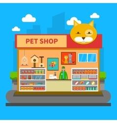 Pets Shop Concept vector image