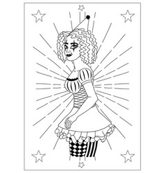 vintage circus collection vector image vector image