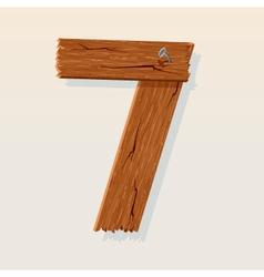 wooden type 7 vector image