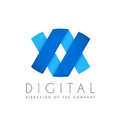Abstract business logo icon design Digital concept vector image