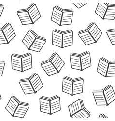 book seamless pattern background icon flat book vector image
