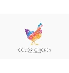 Chicken logo Color chicken Creative logo vector image vector image