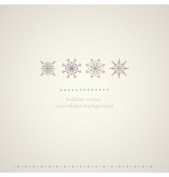 Decoration snowflakes winter background vector image vector image