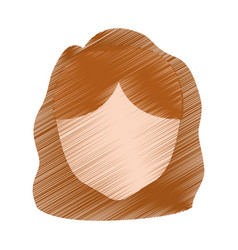drawing head girl faceless hairstyle vector image vector image