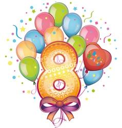 Happy birthday eight vector image