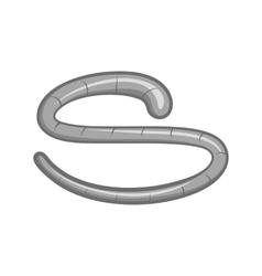 Roundworm icon black monochrome style vector