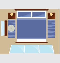 top view bedroom interior with window vector image