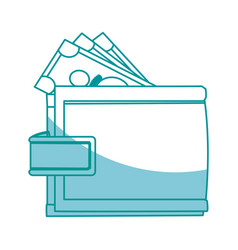 wallet money safe finance business icon vector image vector image