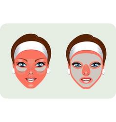 beauty mask vector image vector image