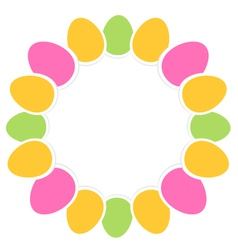 Colorful easter eggs in circle with copy space vector image vector image