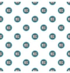 Label best seller pattern cartoon style vector image vector image