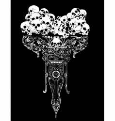 Legion of skulls illustration vector