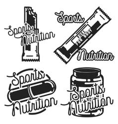 Vintage sports nutrution emblems vector image vector image