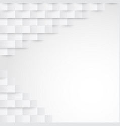 abstract white paper geometric background vector image vector image