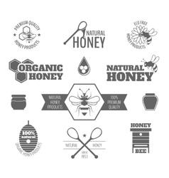 Bee honey label black vector image vector image