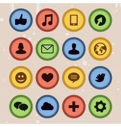 Set of social media badges vector image