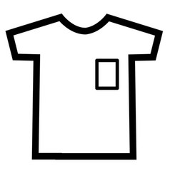Tshirt icon on white background t-shirt sign vector