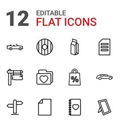 12 blank icons vector