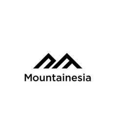 A line art icon logo mountain vector