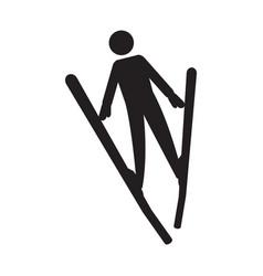 abstract ski jumping symbol vector image