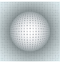 Abstract Sphere on Binary Background vector image