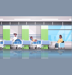 African american pregnant women patients sitting vector