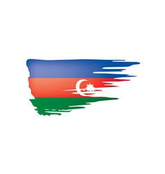 azerbaijan flag on a white vector image