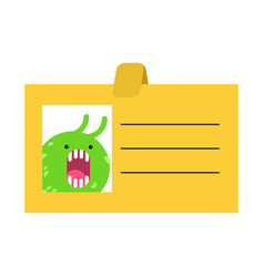 Badge office plankton slug business cartoon style vector