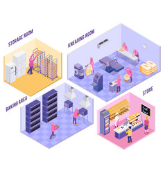 bakery isometric vector image