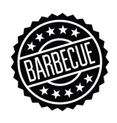 Barbeque stamp in italian vector