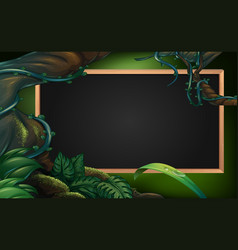 Board template with forest in background vector