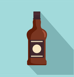 bottle of cognac icon flat style vector image